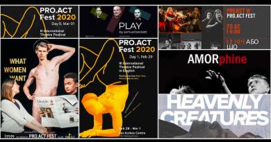 Київський осередок англомовного театру – «PRO.ACT Fest 2020»
