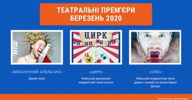 Українські театральні прем'єри (березень 2020)