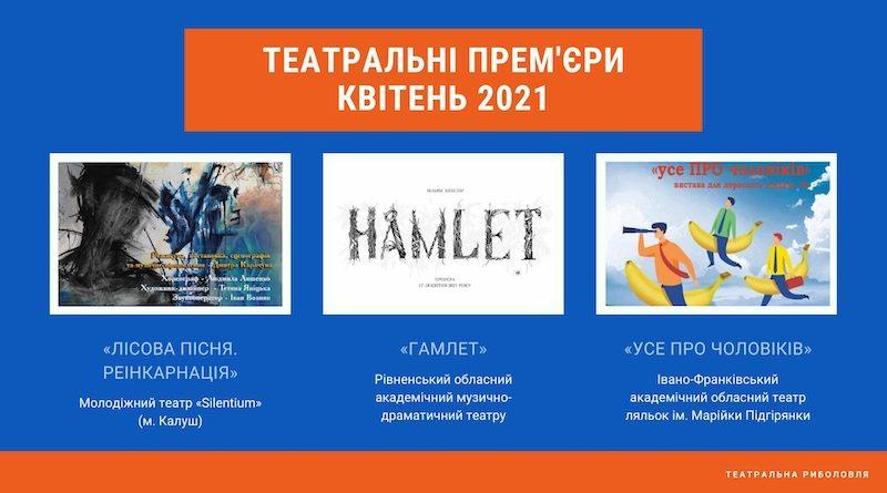 Українські театральні прем'єри (квітень 2021)