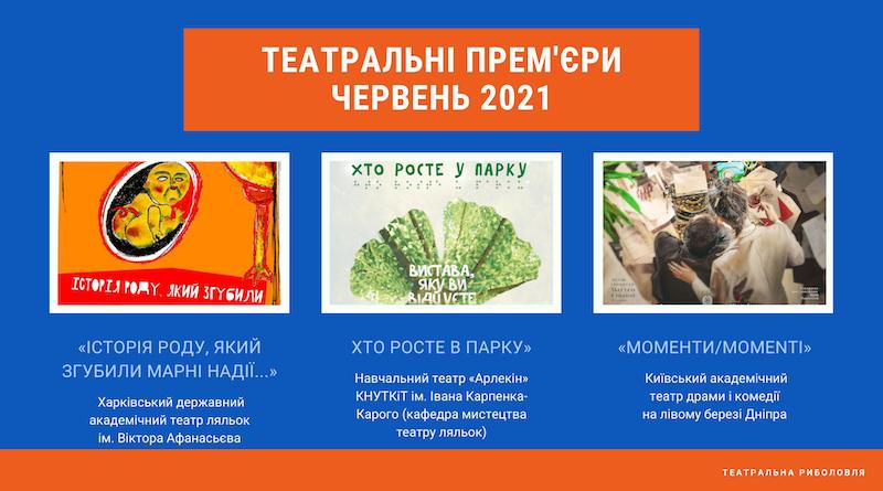 Українські театральні прем'єри (червень 2021)